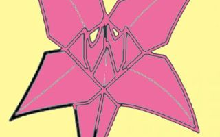 Цветок в технике оригами