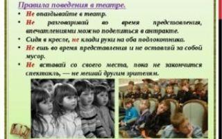 Классный час для начальной школы. правила поведения в театре