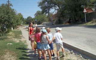 Конспект занятия — экскурсии по пдд с детьми подготовительной группы доу