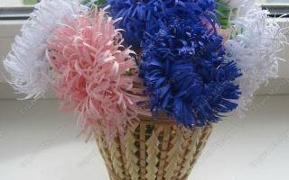 Цветы из бумаги своими руками. хризантемы