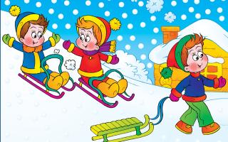 Стихи о зиме для дошкольников. с горни