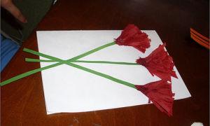 Как сделать открытку из бумаги к 9 мая своими руками