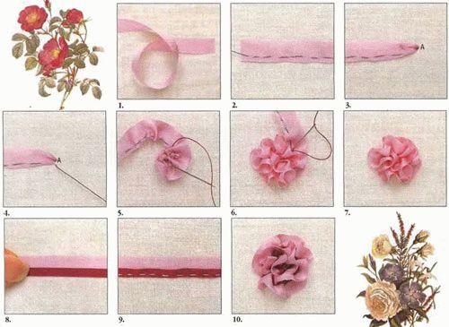Мастер-класс по вышивке лентами для начинающих