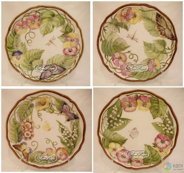 Декорирование тарелок своими руками