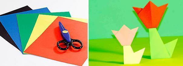 Оригами для детей 5-6 лет. Схема сборки «Собачка»