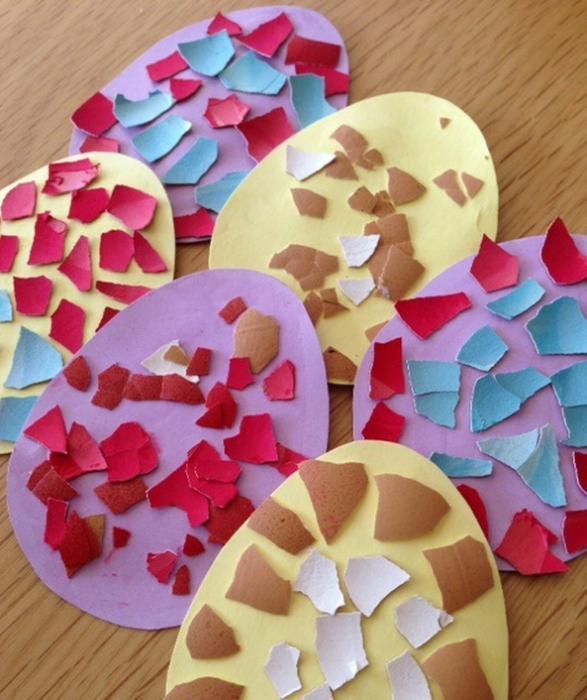 Мозаика из яичной скорлупы для детей