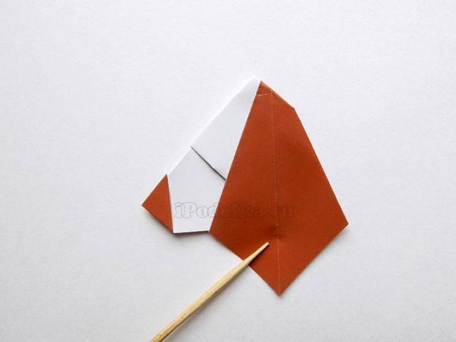 Поделка Щенок из бумаги в технике оригами. Мастер-класс с пошаговыми фото