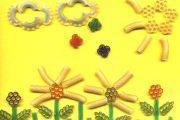 Аппликация из макаронных изделий на тему Лето