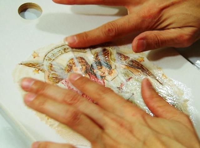 Объёмная картина из салфеток своими руками