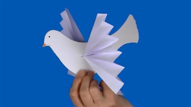 Аппликация из бумаги. Голубь мира