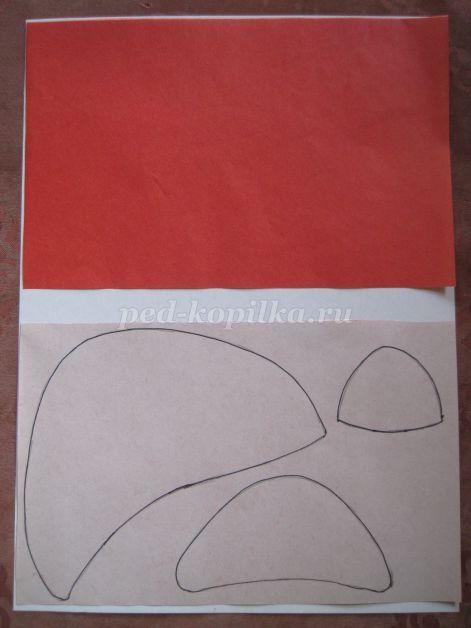 Детские поделки из бумаги. Мухомор своими руками