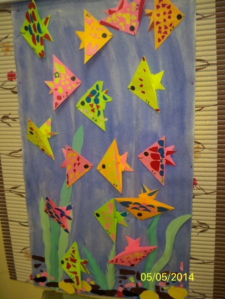 Модульное оригами. Рыбка. Схема сборки пошагово с фото для начинающих