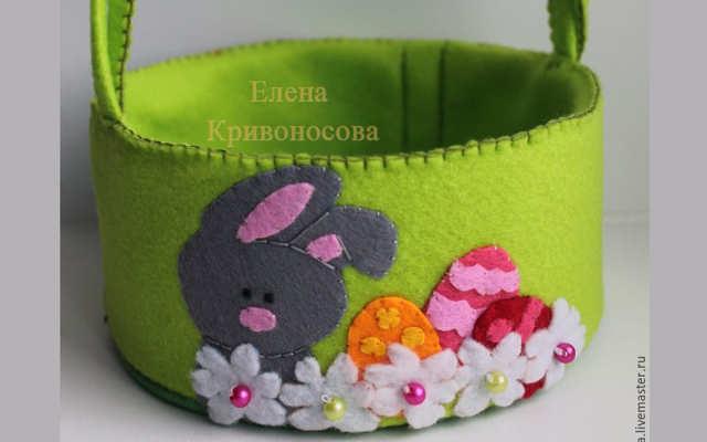 Корзиночка для Пасхальных яиц своими руками