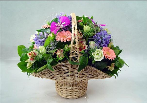 Корзиночка с цветами своими руками
