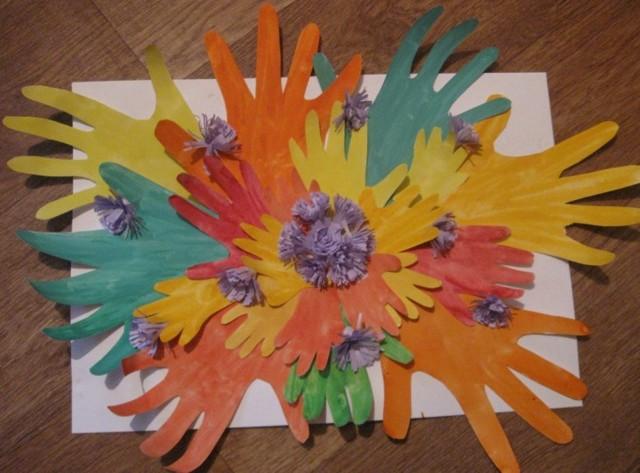 Весенние поделки из бумаги для детей. Чёрный грач