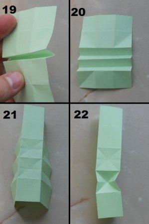 Гусеничка из бумаги