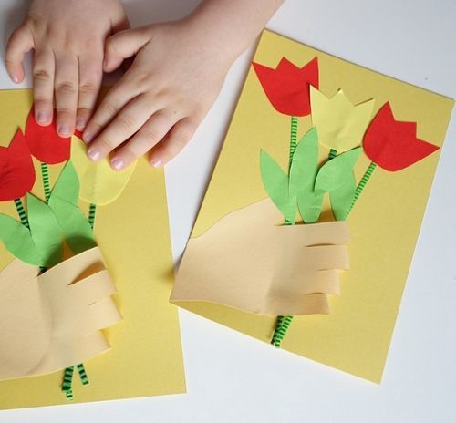 Объёмная аппликация для детей к 8 марта