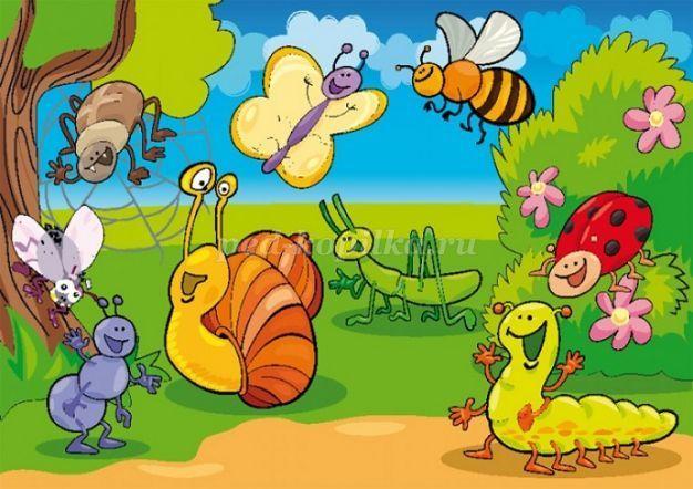 Конспект занятия по экологии в подготовительной группе на тему: Насекомые