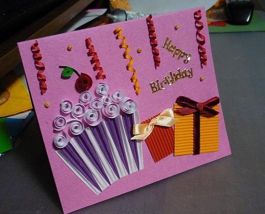Поздравительная открытка своими руками. С днем рождения