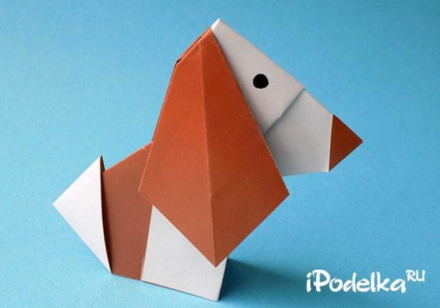 Конспект занятия кружка в начальной школе. Собачка своими руками в технике оригами