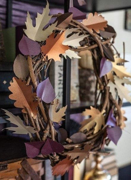 Осенняя гирлянда из бумаги своими руками