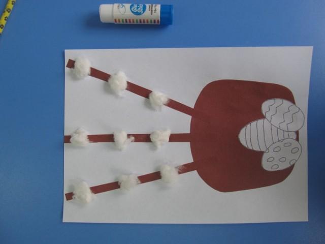 Конспект занятия кружка в начальной школе. Аппликация из бумаги на Пасху