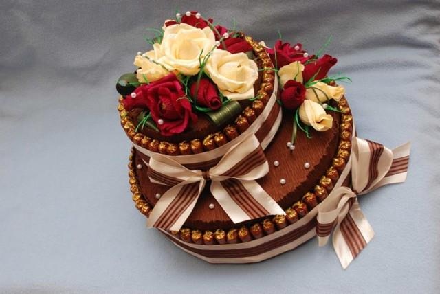 Торт из конфет. Свит дизайн мастер-класс с пошаговыми фото