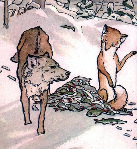 Сказка «Лиса и волк» распечатать текст