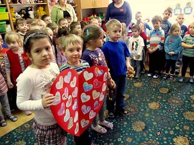 День святого Валентина в детском саду. Сценарий. Старшая группа