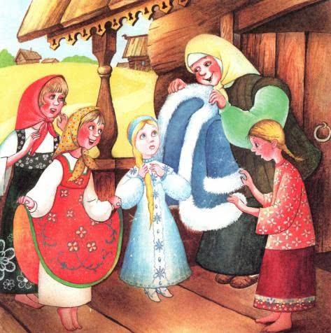 Русская народная сказка «Снегурочка» текст