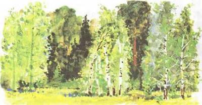 Пришвин «Разговор деревьев» текст распечатать