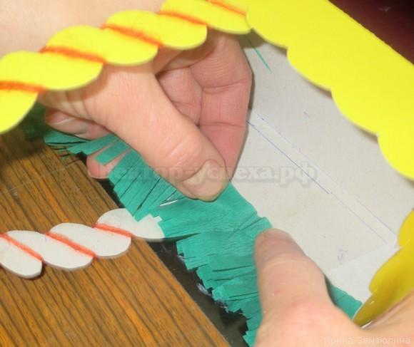 Цветы из бумаги своими руками. Корзиночка с цветами