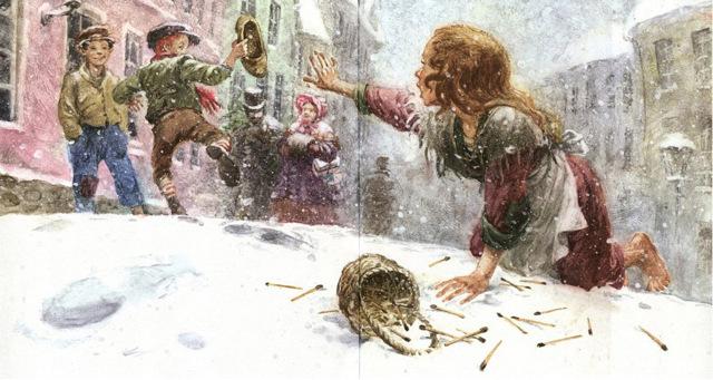 Новогодние сказки для детей. Девочка со спичками