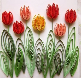 Цветы из бумаги. Объёмная аппликация колокольчики для детей