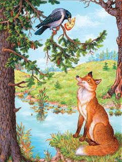 Крылов «Ворона и лисица» текст