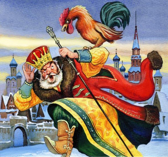 Пушкин «Сказка о золотом петушке» читать