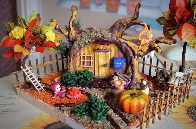 Осенние поделки с детьми. Мастер-классы с пошаговыми фото
