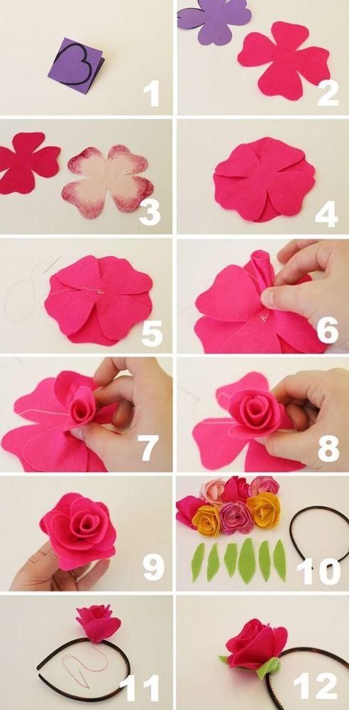 Цветок из фетра своими руками