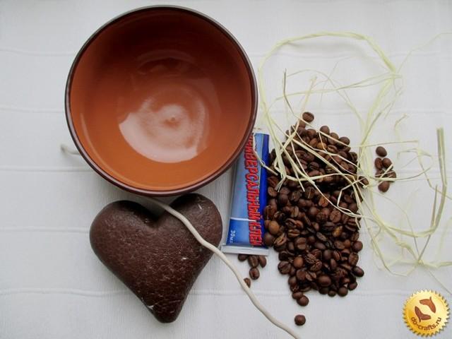 Сердце из кофейных зерен своими руками. Мастер-класс