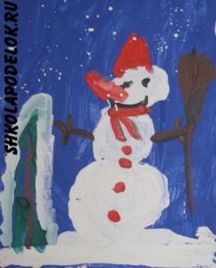 Стихи про снеговика для детей