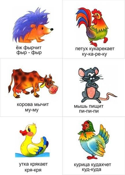 Стихи для детей 4-5-6 лет на тему «Кто как говорит?»