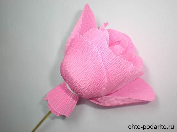 Подарок на день рождения своими руками. Композиция из роз