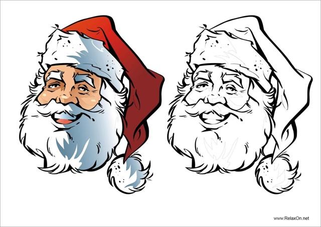 Новогодние раскраски для детей 3-4 лет распечатать ...