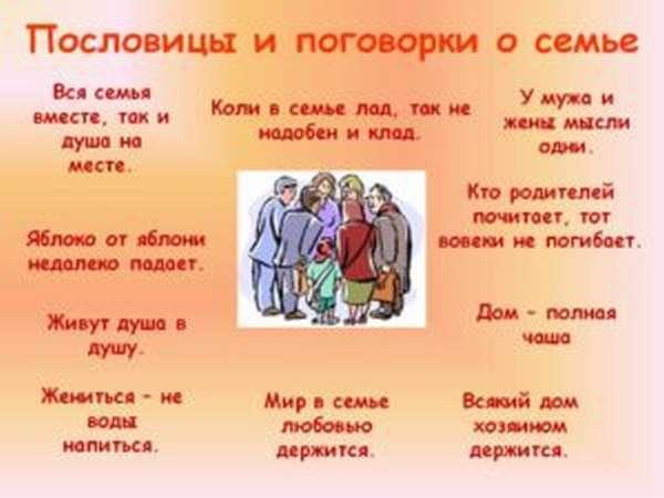 Пословицы о родине и семье для детей 2 классов