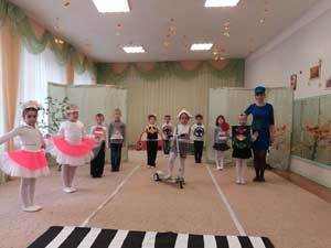 Театрализованная постановка по ПДД для дошкольников. Старшая группа
