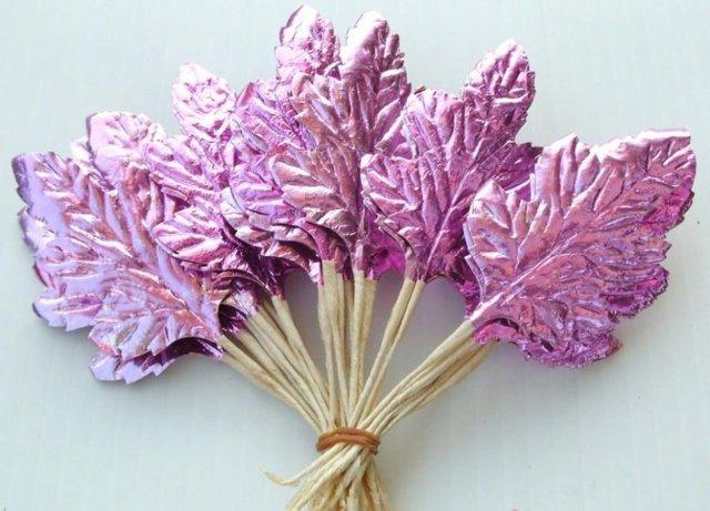 Поделки из фольги своими руками. Мастер-класс цветы