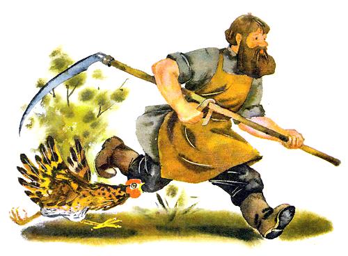 Русская народная сказка «Петушок и бобовое зёрнышко» читать онлайн полностью