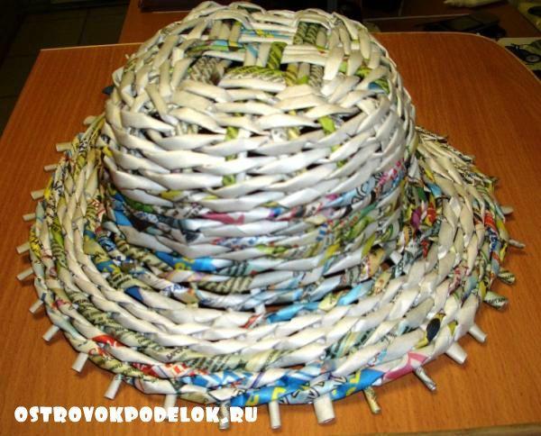 Шляпа из газетных трубочек своими руками. Мастер-класс с пошаговыми фото