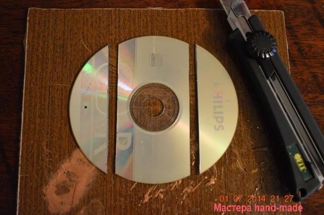 cалфетница своими руками из дисков. Мастер-класс