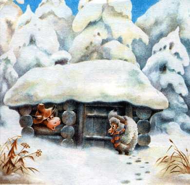 Русская народная сказка «Зимовье» текст